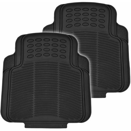 BDK Utility Floor Mats for Car, Home, Garage, Trimmable Semi Custom Fit, Black Beige Gray - Garage Car Mats