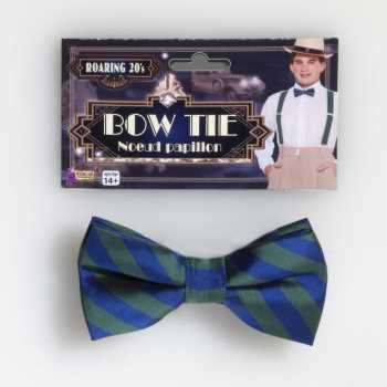 Adult Nerd Costumes (STRIPED BOWTIE-GREEN/BLUE)