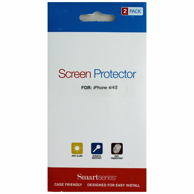 Smartseries 2-pack Screen Protector for Apple iPhone 4 4S