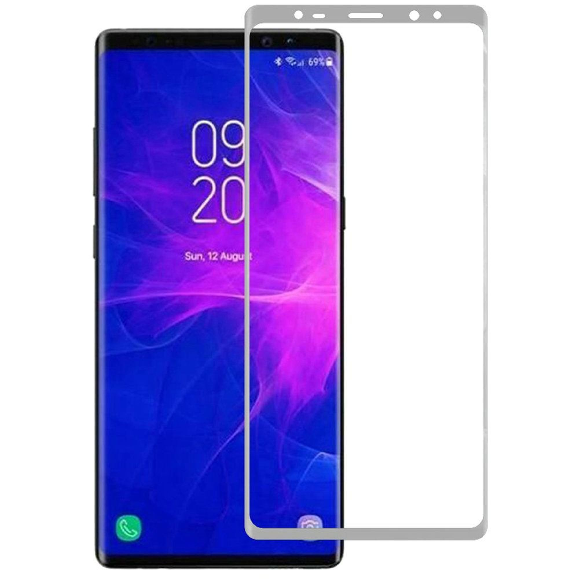 Samsung Galaxy Note 9 Screen Protector, by Insten Clear Tempered Glass Screen Protector For Samsung Galaxy Note 9 - Silver