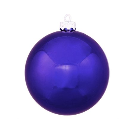 "Shatterproof Shiny Cobalt Blue Christmas Ball Ornament 8"" (200mm) - image 1 of 1"