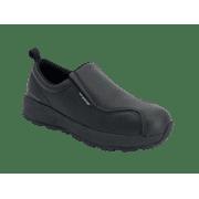 Women's Slip On No Laces Full Grain Leather Slip Resistant Work Shoe
