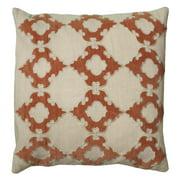 "Decorative Poly Filled Throw Pillow Geometric 18""X18"" Orange"