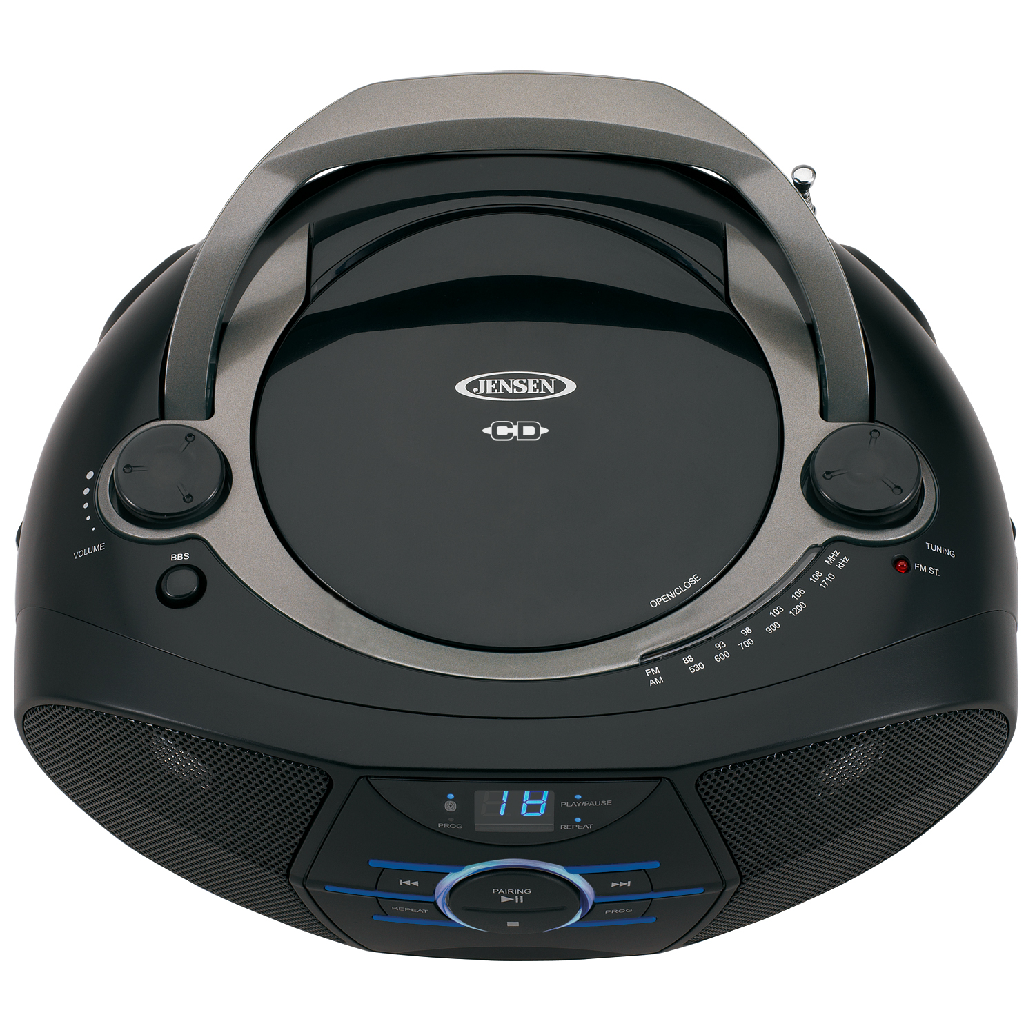 JENSEN CD-560 Portable Stereo CD Player with AM/FM Radio \u0026 Bluetooth - Walmart.com