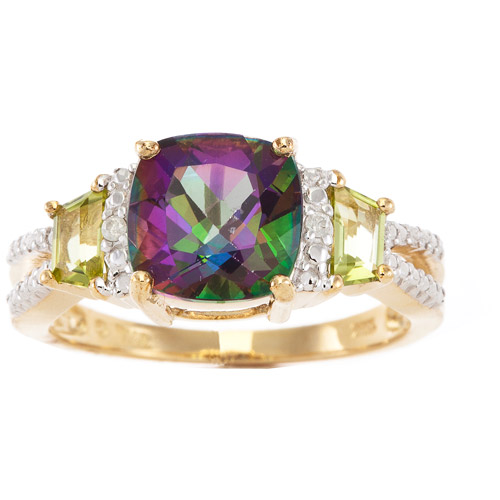 2.40 Carat T.g.w. Mystic Fire Topaz And