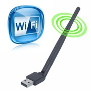 USB Wireless WiFi Adapter Computer WiFi Dongle 150M Network WI-FI Networking Card LAN Adapter with Antenna Computer Accessories