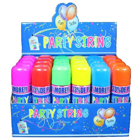 (Silly Crazy Party String - Case of 24 Cans (Large Size))