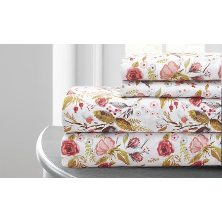 Pacific Coast Textiles 100% Microfiber Wild Flowers Printed Sheet Set