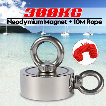 300KG 67mm Double Sides Strong Neodymium Magnet with Hanging Eyebolt Ring Strong Pulling Force Magnet for Treasure Hunting Salvage Fishing Strong Recovery Magnet Metal Detector  - image 10 of 10