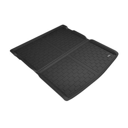 Kagu Cargo Liner Cross Fold Floor Mat for 2018 Volkswagen Atlas, Black Field Floor Mat