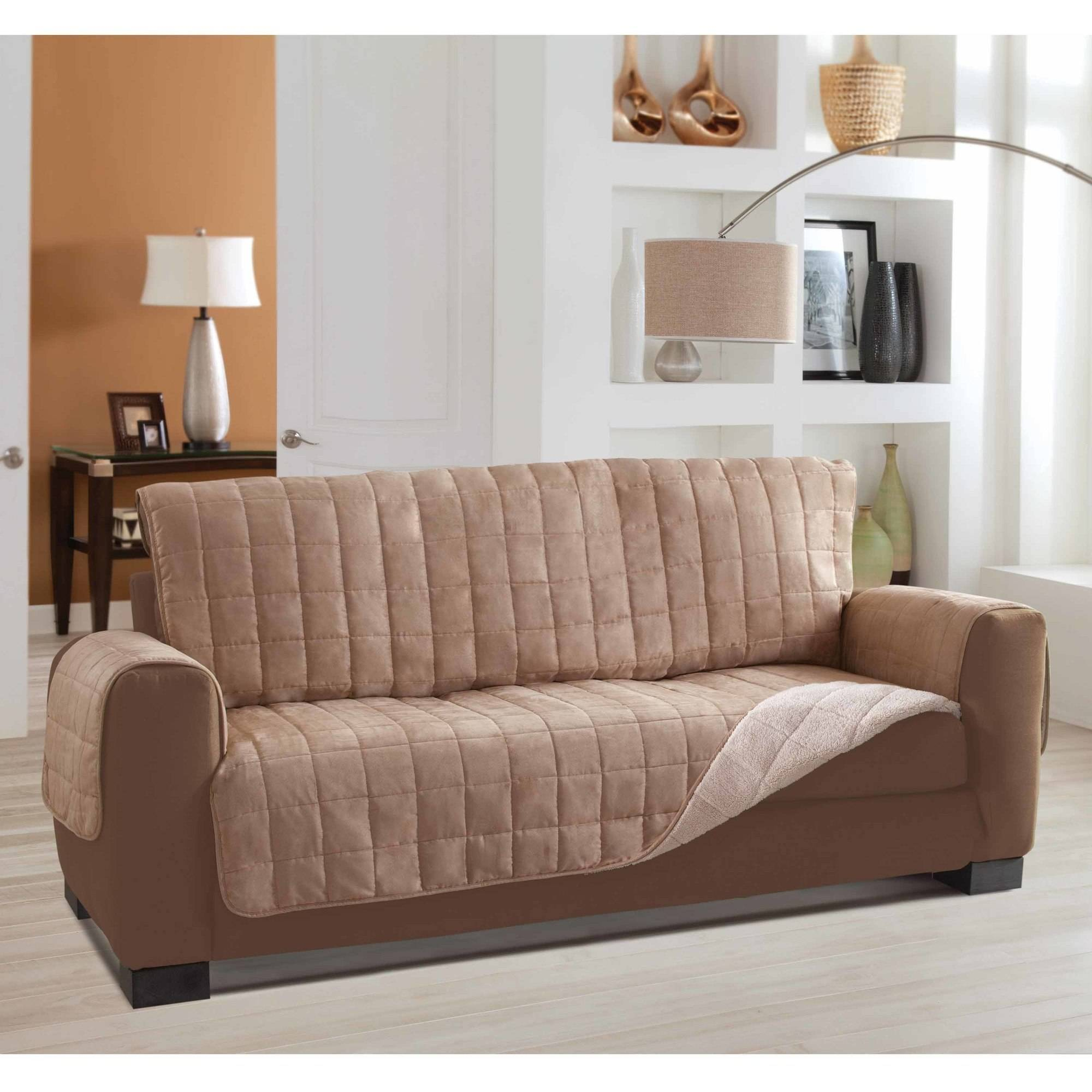Serta Living Room Furniture Serta Reversible Sherpa Suede Furniture Protector Sofa Walmartcom