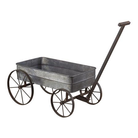 Sterling Wagon Planter in Aluminum and Black