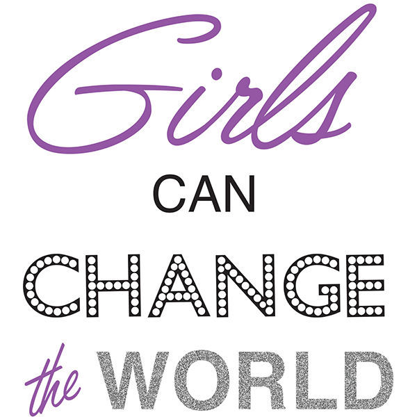 WallPops Girls Can Change The World Wall Quote