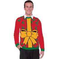product image forum all wrapped up bow holiday costume ugly christmas sweater red multi