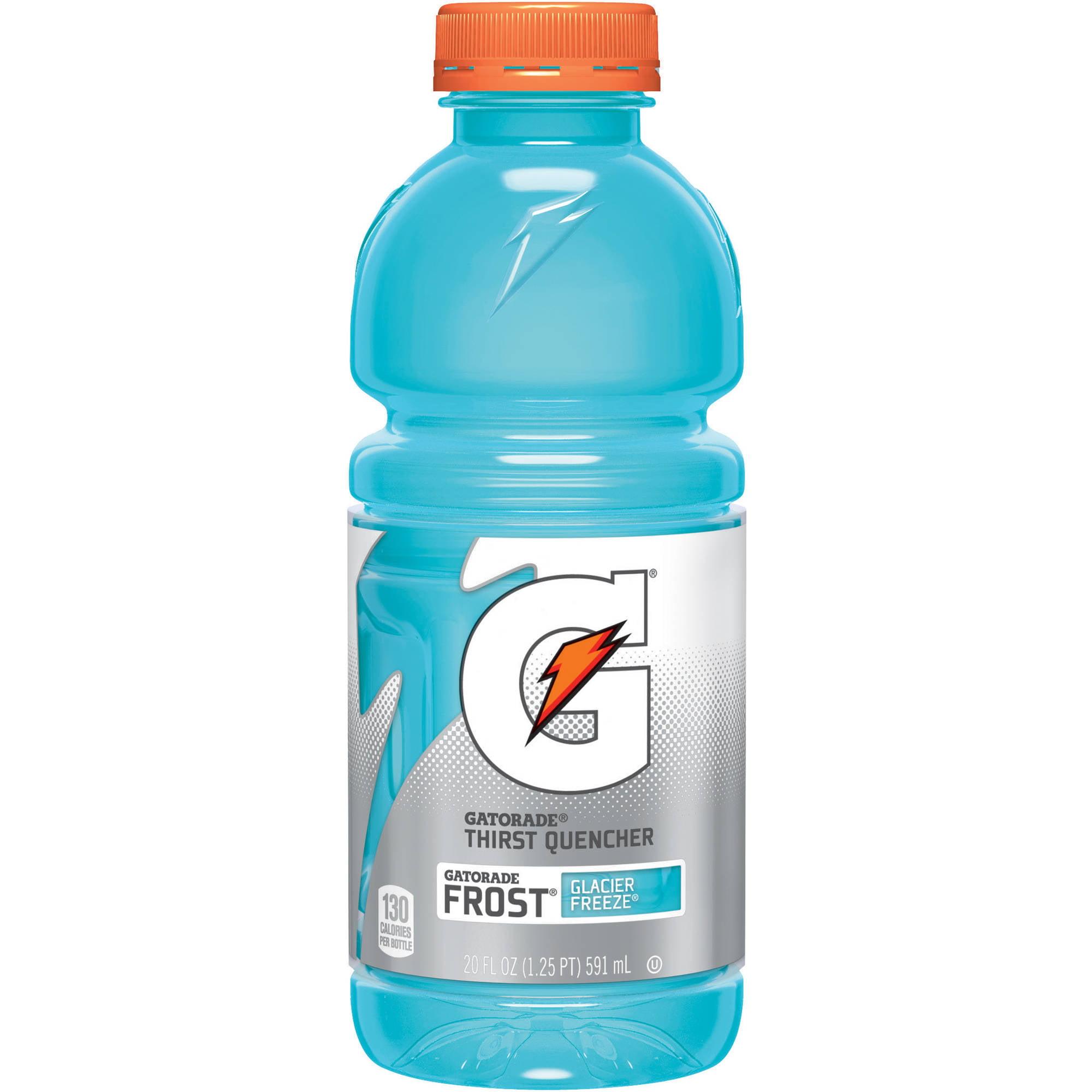 Gatorade G Frost Glacier Freeze Thirst Quencher Sports Drink, 20 fl oz bottles