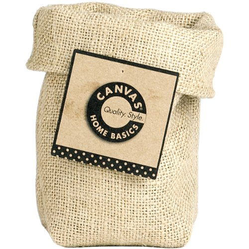 Canvas Corp Saggy Baggy Cup, Natural Burlap Multi-Colored