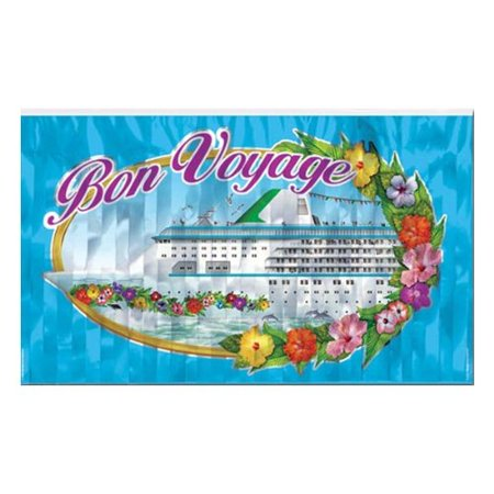 FR Metallic Bon Voyage Fringe Banner Party Accessory (1 count) (1/Pkg)](Bon Voyage Decorations Ideas)