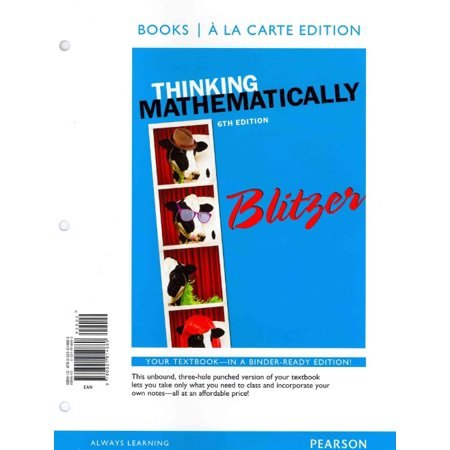 Thinking Mathematically  Books A La Carte Edition Plus Mymathlab With Pearson Etext    Access Card Package