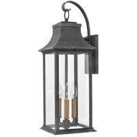 "Hinkley Lighting 2935 Aged Zinc Adair 3 Light 24-1/2"" Tall Heritage Outdoor Wall Sconce"