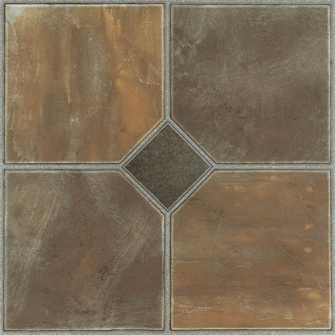 Nexus Rustic Slate 12x12 Self Adhesive Vinyl Floor Tile - 20 Tiles/20 sq. ft.