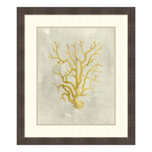 "Amanti Art DSW1421242 28-1 2 Inch x 24-1 2 Inch ""Coral in Mustard"" Framed... by Amanti Art"