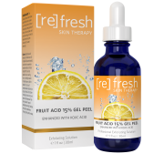 Fruit Acid Gel Facial Peel with Glycolic Acid Kojic Acid 1 fl oz