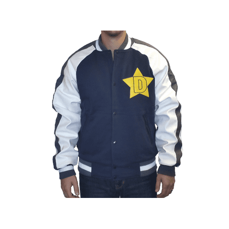 Space Dandy Jacket Blue Coat Anime Cosplay Adult Costume Uniform Varsity Star