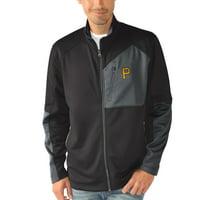 Pittsburgh Pirates G-III Sports by Carl Banks Wild Card Full-Zip Microfleece Jacket - Black