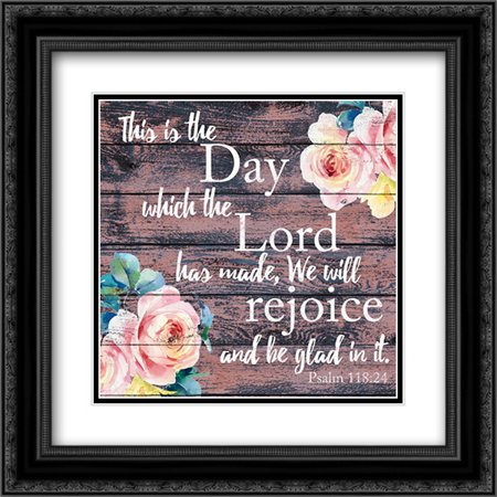 We Will Rejoice 1 2x Matted 20x20 Black Ornate Framed Art Print by Brown, Victoria