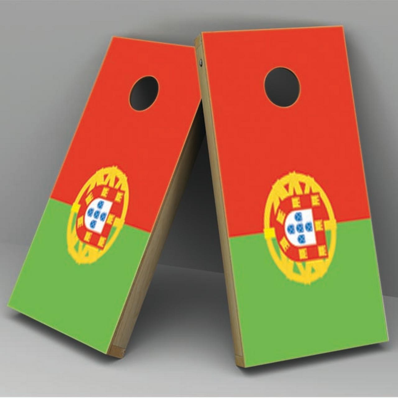 Portugal Flag Cornhole Board Vinyl Decal Wrap
