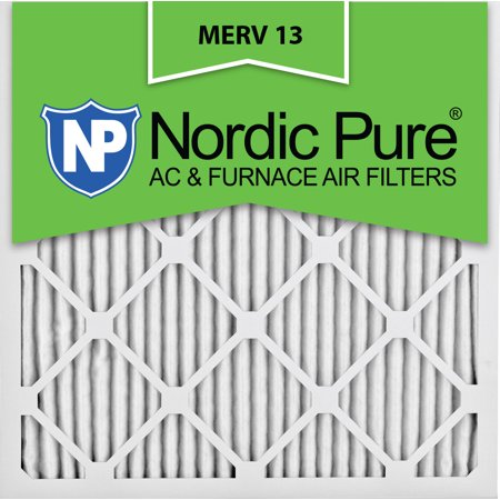 18x18x1 pleated merv 13 ac furnace air filters qty 12 - walmart.com