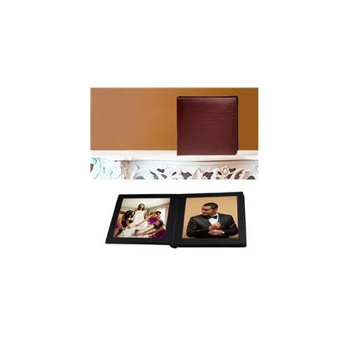 Leather Album Designs CP30151010618B Matted 10 X10 Burgandy Bonded Leather 18 Pg - 24 Side Album