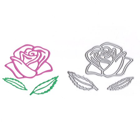 Flower Shape Cutting Dies Carbon Steel Rose Embossing Stencil Metal Mould DIY Scrapbook Photo Album Crafts - image 4 de 6