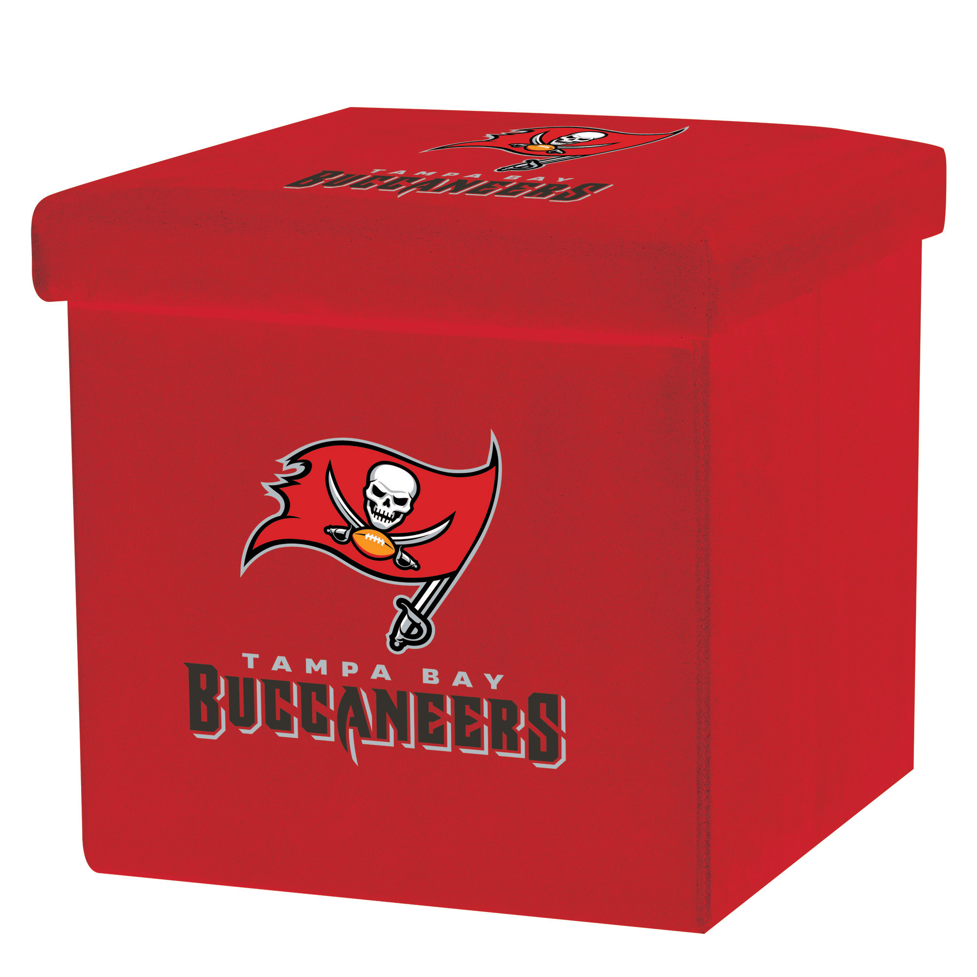 Franklin Sports NFL Tampa Bay Buccaneers Storage Ottoman with Detachable Lid