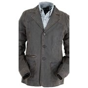 Outback Trading Coat Mens Fairview Blazer Buttons Lapels Brown 2850