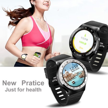 Round Screen Smart Watch For Android 5.1 ,Bluetooth4.0 GPS Heart Rate Fitness Tracker