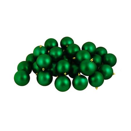 12ct Matte Xmas Green Shatterproof Christmas Ball Ornaments 4