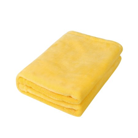 45*65CM Fashion Solid Soft Throw Kids Blanket Warm Coral Plaid Blankets Flannel ()