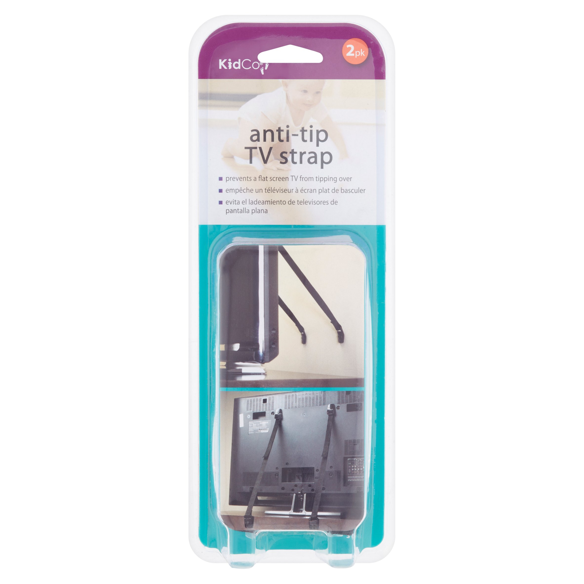 Anti Tip TV Straps (2 Pack) to Prevent Accidents by KidCo