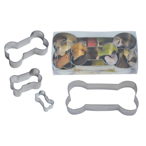 R & M International Corp. Dog Bone 4 Piece Cookie Cutter Set