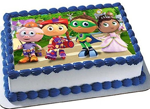 Super Why emblem Cake Edible 14 Sheet Image Topper Birthday Party