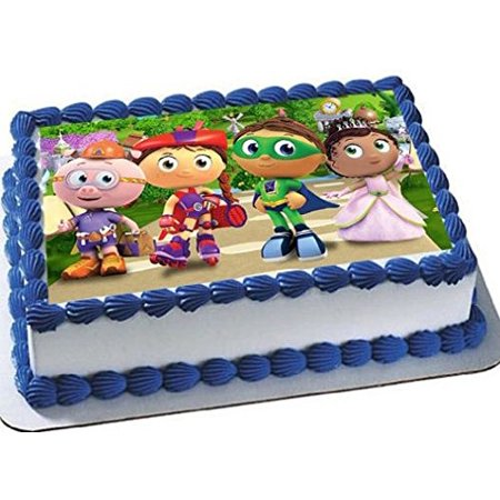 Super Why Emblem Cake Edible 1 4 Sheet Image Topper Birthday Party Favor Movie