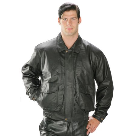Via Spiga Leather Coat - USA Leather Classic Aviator Mens Black Leather Jacket
