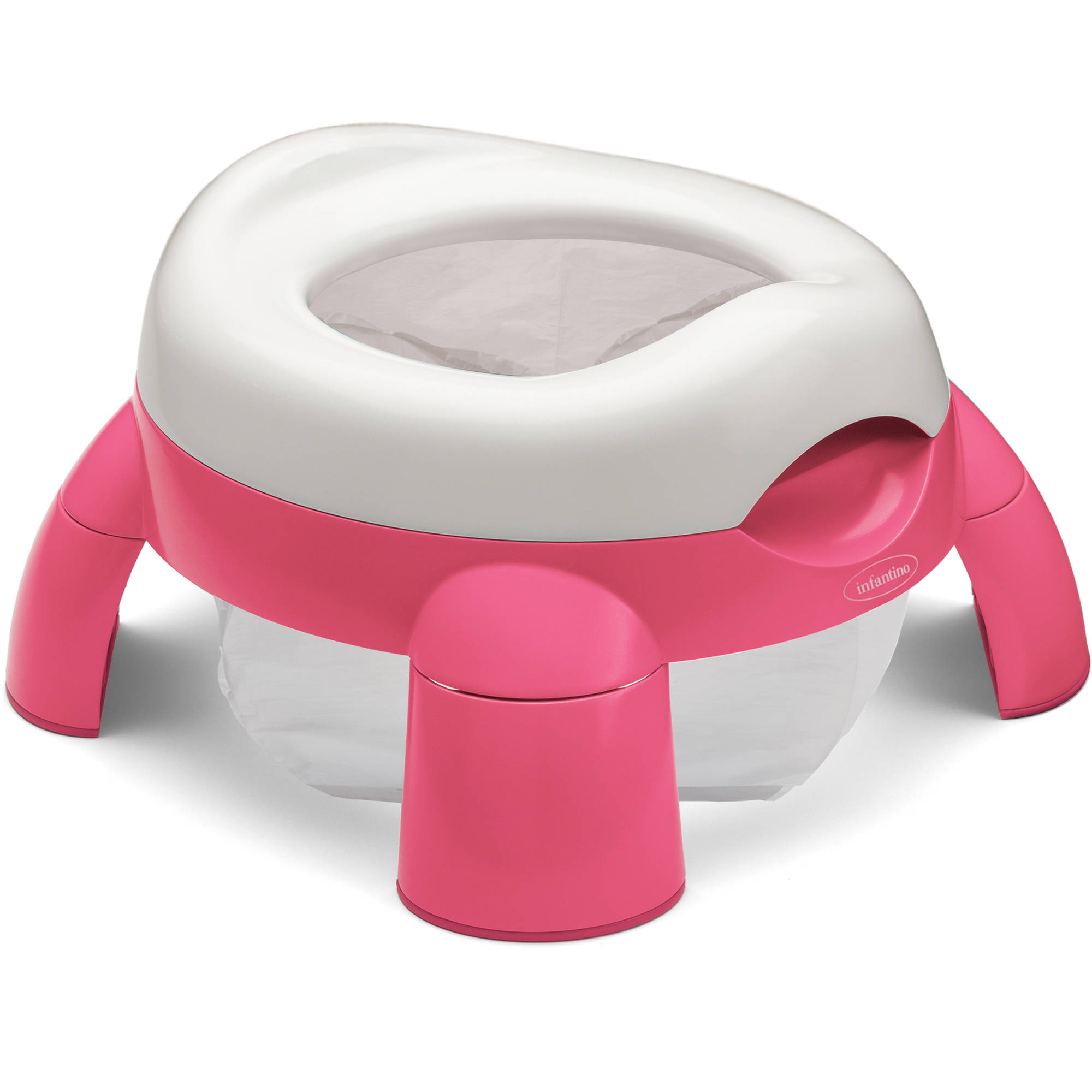 Infantino Up & Go Compact Travel Potty, Pink