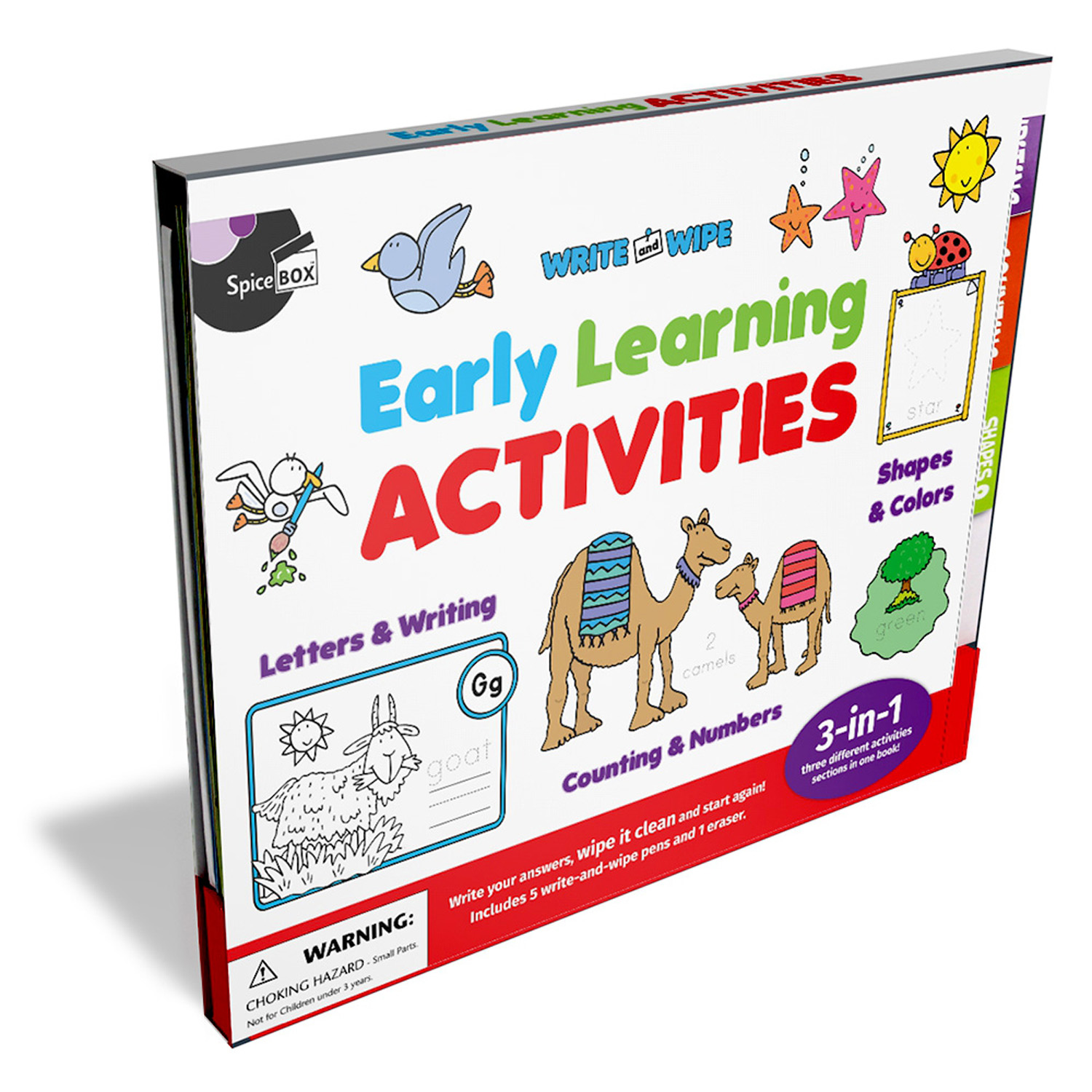 SpiceBox Write And Wipe Early Learning Activities Kit/School Supplies