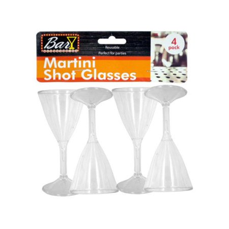 Plastic Martini Shot Glasses (Available in a pack of 18)