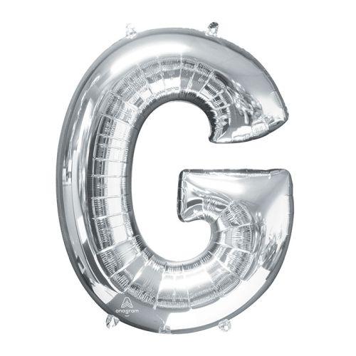 """Burton & Burton 32"""" Letter G Silver Balloon"""