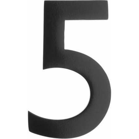 Architectural Mailboxes 5 Brass Floating House Number Satin Nickel 5