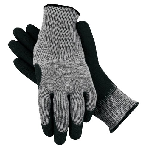 Midwest Quality Gloves, Inc. Men's Rubber Coated Gloves, Large