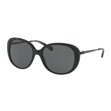 669df8432d Coach - Coach Dark Grey Solid Oval Ladies Sunglasses HC8215 548287 57 -  Walmart.com